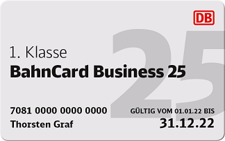 BahnCard Business 25 1. Klasse