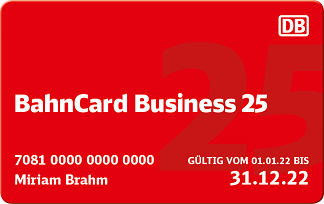 BahnCard Business 25 2. Klasse