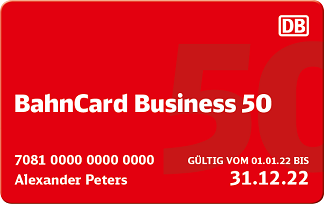 BahnCard Business 50 2. Klasse